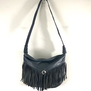 Genuine Leather Made in Mexico Fringed Crossbody